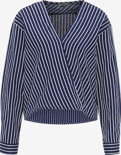 DreiMaster Vintage Bluse in navy / weiß, Produktansicht