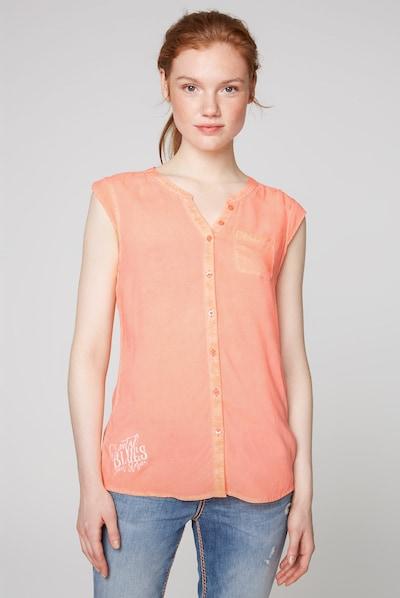 Soccx Bluse in orange, Modelansicht