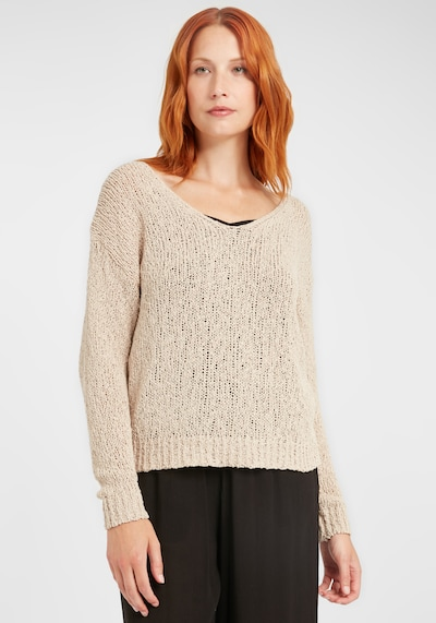 b.young Pullover 'Mala' in beige, Modelansicht