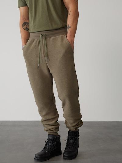 DAN FOX APPAREL Sweatpants 'Hauke' in khaki, Modelansicht