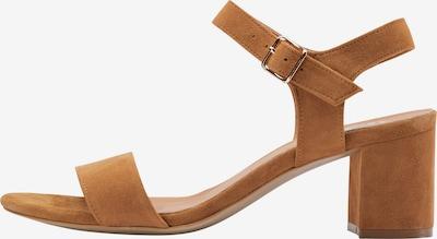 Usha Sandale in cognac, Produktansicht