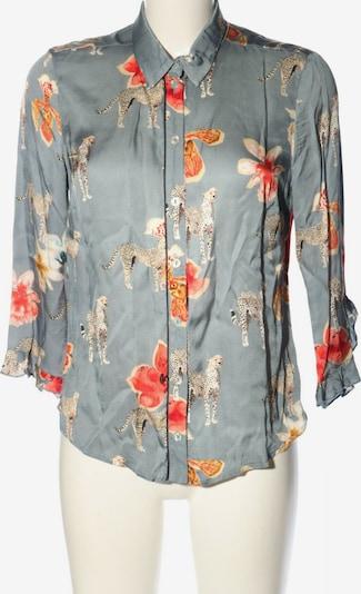 Summum Woman Langarm-Bluse in XS in hellgrau / hellorange / weiß, Produktansicht