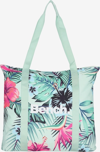 BENCH Shopper 'City Girls' in mint / pink / schwarz / weiß, Produktansicht