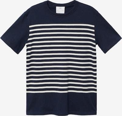 MANGO MAN T-Shirt 'LEIRIA-H' en bleu marine / blanc, Vue avec produit