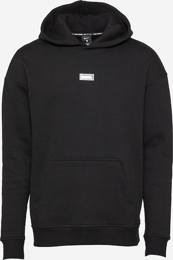 NIKE Спортен блузон с качулка в черно / бяло, Преглед на продукта