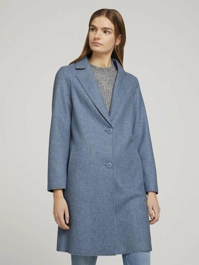 TOM TAILOR DENIM Преходно палто в опушено синьо, Преглед на модела