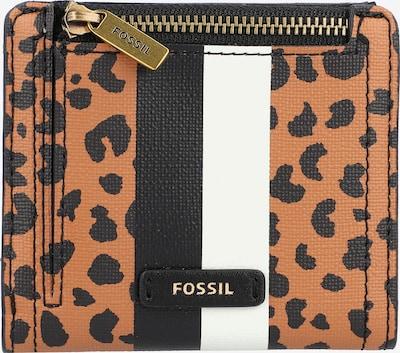 FOSSIL Geldbörse 'RFID Logan' in braun / schwarz / weiß, Produktansicht