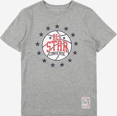 CONVERSE Shirt in dunkelgrau / rot / weiß, Produktansicht