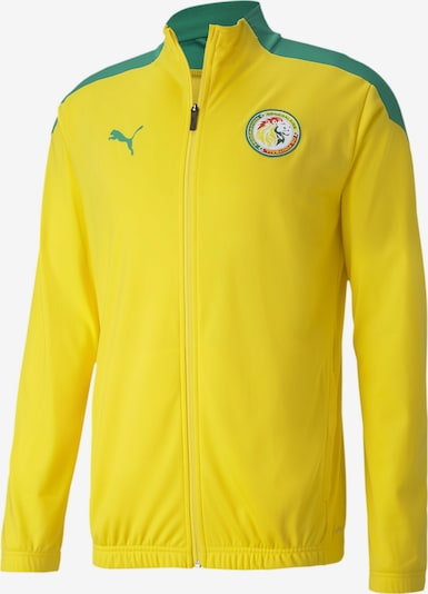 PUMA Trainingsjack 'Senegal' in de kleur Geel / Groen: Vooraanzicht