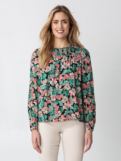 Indiska Блуза 'IMI' в бежово / зелено / мента / бледорозово / черно, Преглед на модела
