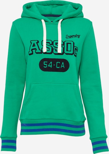 Superdry Sweatshirt 'Collegiate Athletic Union' in kobaltblau / grün / schwarz, Produktansicht