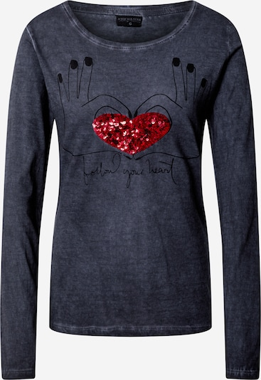 Stitch and Soul Shirt in dunkelblau, Produktansicht