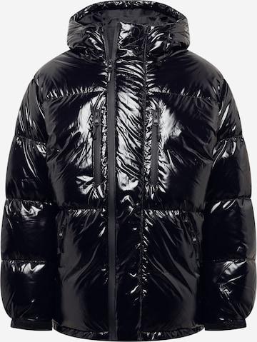 Calvin Klein Winter Jacket 'HIGH SHINE' in Black