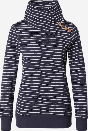 WLD Sweatshirt 'Love Beat' en bleu marine / blanc, Vue avec produit