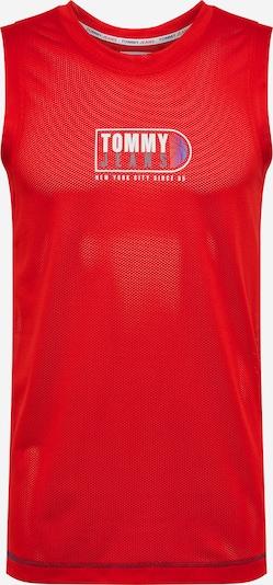 Tommy Jeans T-Shirt en gris / violet / rouge / blanc, Vue avec produit