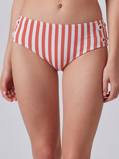 Skiny Bikinibroek in de kleur Roestbruin / Wit, Modelweergave