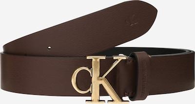 Calvin Klein Jeans Ledergürtel 'ROUNDED MONO PLAQUE BELT 35MM' in dunkelbraun / gold, Produktansicht