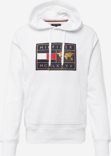 TOMMY HILFIGER Sweatshirt in navy / gold / rot / weiß, Produktansicht