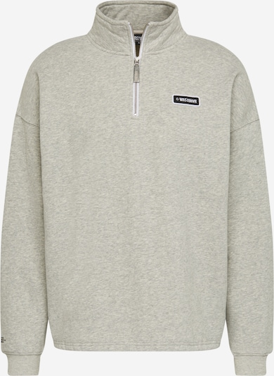 Worst Behavior Sweatshirt 'Roy' in graumeliert, Produktansicht