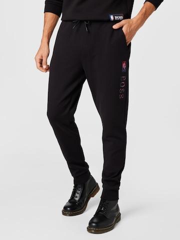 BOSS Casual Trousers 'Slamdunk' in Black