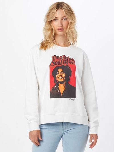 világos bézs / piros / fekete / fehér WRANGLER Tréning póló: Elölnézet