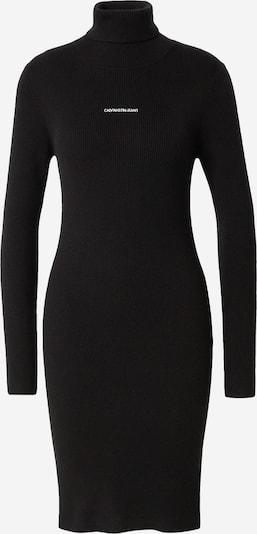 Calvin Klein Jeans Gebreide jurk in de kleur Zwart / Wit, Productweergave