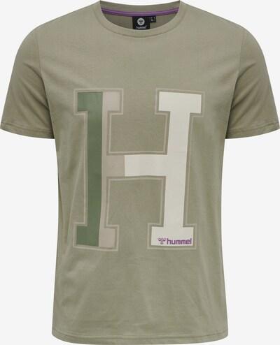 Hummel Functioneel shirt 'Laneway' in de kleur Beige / Kaki / Donkergroen / Donkerlila, Productweergave