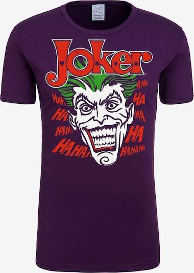 LOGOSHIRT T-Shirt 'Joker - Batman' in lila, Produktansicht