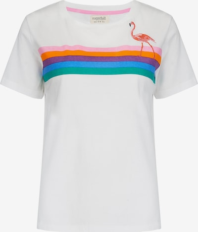 Sugarhill Brighton T-Shirt in grün / lila / orange / pink / offwhite, Produktansicht