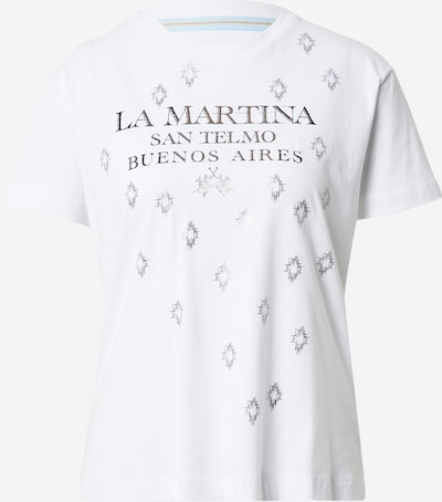 La Martina T-Shirt in schwarz / weiß, Produktansicht