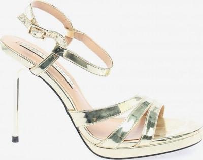 ZARA Riemchen-Sandaletten in 38 in gold, Produktansicht