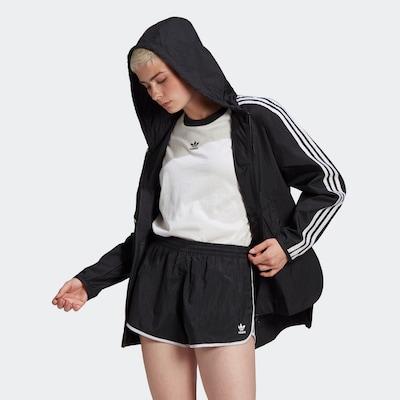 ADIDAS ORIGINALS Prijelazna jakna u crna / bijela, Prikaz modela