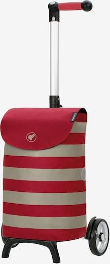 Andersen Shopper Einkaufstrolley 'Fun Ida' in grau / rot, Produktansicht