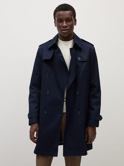 MANGO MAN Prehoden plašč | mornarska barva, Prikaz modela