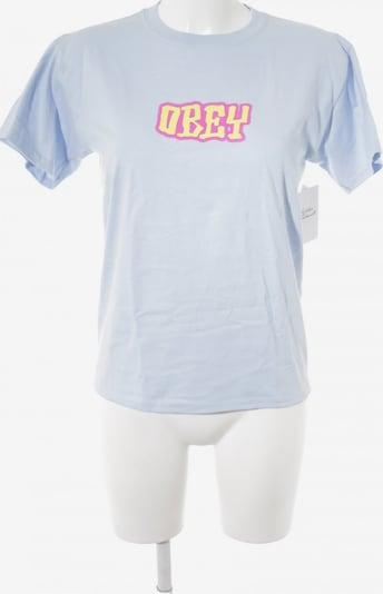 Obey T-Shirt in M in himmelblau / neongelb / magenta, Produktansicht
