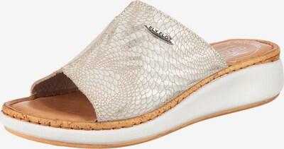 FLY FLOT Plateau-Pantoletten in hellbeige, Produktansicht
