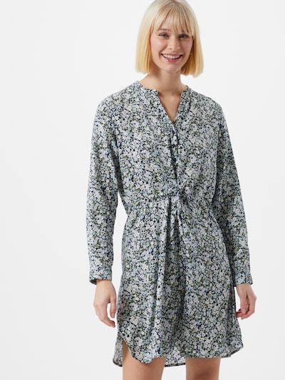 ONLY Robe-chemise 'Cory' en crème / bleu foncé / vert / blanc, Vue avec modèle
