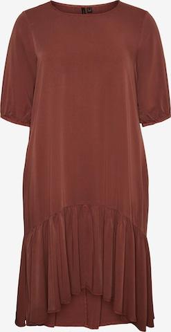 Vero Moda Curve Kleit 'JESSIKA', värv pruun