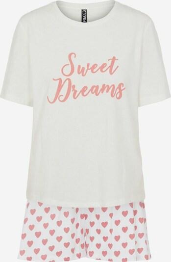 PIECES Korte pyjama in de kleur Rosa / Wit, Productweergave