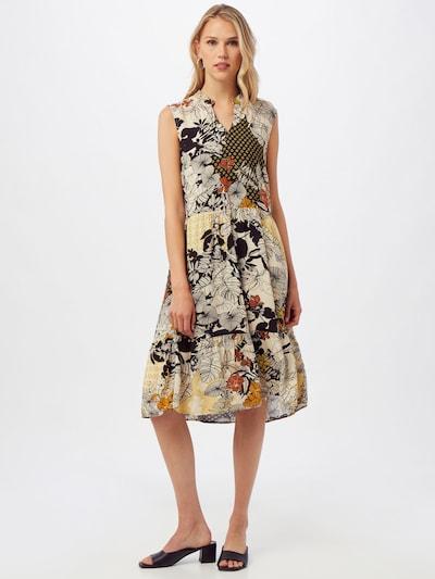 MORE & MORE Kleid in braun / gelb / schwarz / weiß, Modelansicht