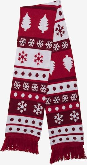 Urban Classics Sjaal in de kleur Bloedrood / Bourgogne / Wit, Productweergave