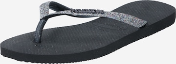 HAVAIANAS T-Bar Sandals in Black