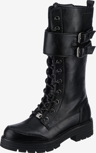 TOM TAILOR Lace-Up Boots in Black, Item view