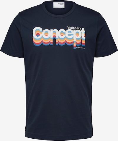 SELECTED HOMME Shirt 'Avalon' in de kleur Hemelsblauw / Donkerblauw / Rosa / Wit, Productweergave