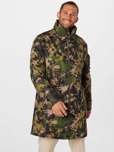 Demisezoninis paltas 'JOBURG' iš DRYKORN, spalva – kūno spalva / geltona / žalia / juoda, Modelio vaizdas