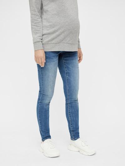 MAMALICIOUS Jeans in de kleur Blauw, Modelweergave