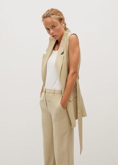 MANGO Kamizelka do garnituru w kolorze beżowym, Podgląd na modelu(-ce)