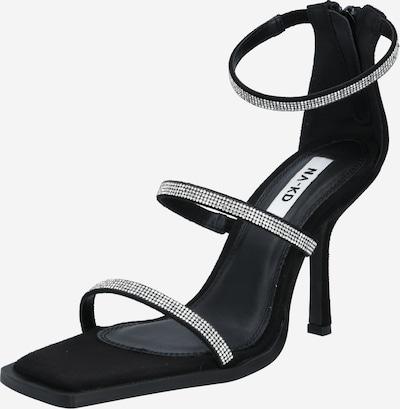 NA-KD Sandale 'Rhinestone' in schwarz, Produktansicht