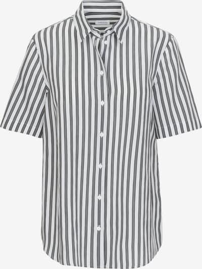 SEIDENSTICKER Bluse ' Schwarze Rose ' in grau / weiß, Produktansicht