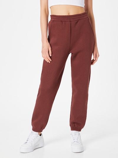 ABOUT YOU Pantalon 'Cara' en marron châtaigne, Vue avec modèle